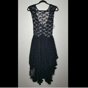 NWT FREE PEOPLE French Courtship Slip Goth Dress